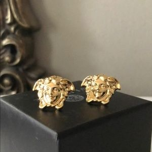 NEW Versace Medusa Earrings